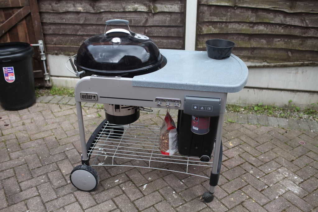 Weber performer deluxe bbq black w cover ebay for Weber performer deluxe