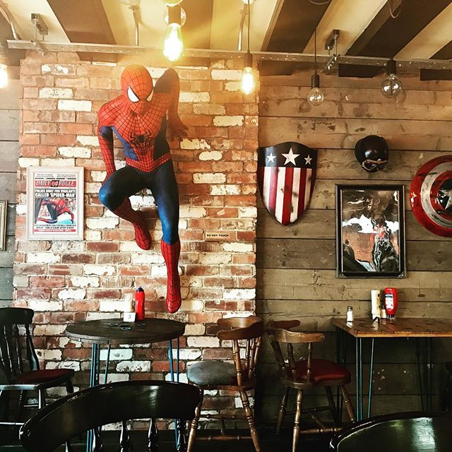 Cool superhero themed burger place in London! (Near Whitechapel)