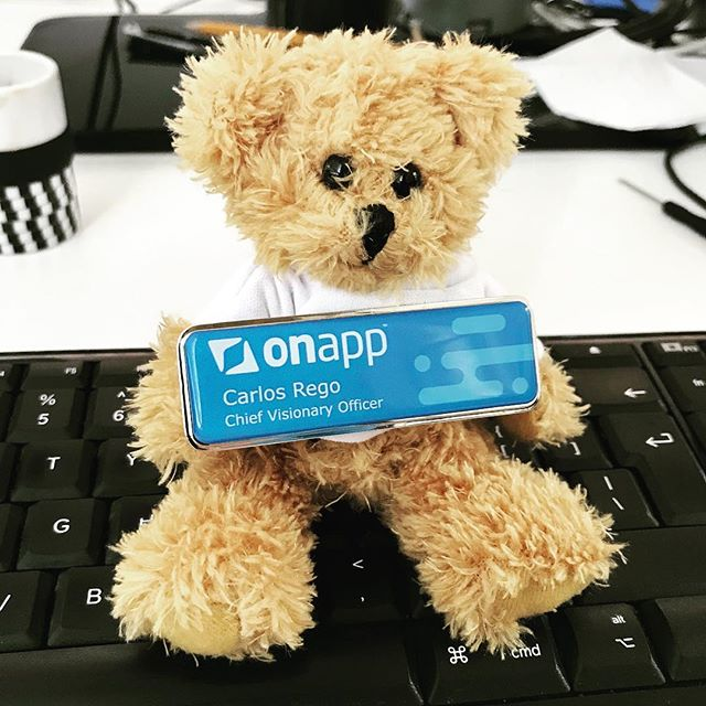 Our new name tags for industry events have arrived, not bad 👍 #OnApp