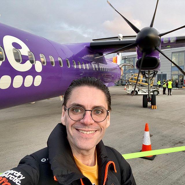 Mandatory airplane selfie, on my way to Belfast, Northern Ireland