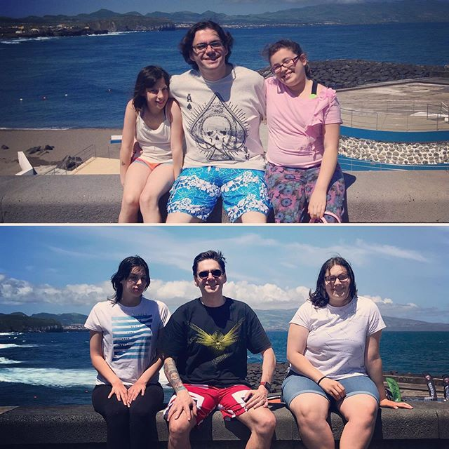 6 Year's apart !, me and my girls in the Azores, same spot 2013 vs 2019
