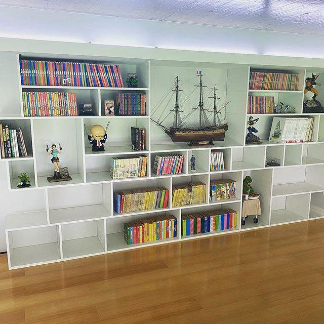 New bookshelf in the home office, looks amazing !!